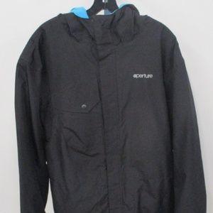 Aperture Men's Snowboarding Jacket Hooded Black